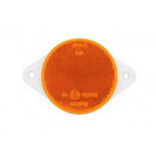 Круглый пластиковый светоотражатель с отверстиями d=75 мм