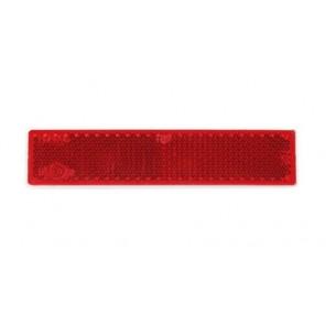 Прямоугольные пластиковые светоотражатели на клеящей основе 70 - 19 мм